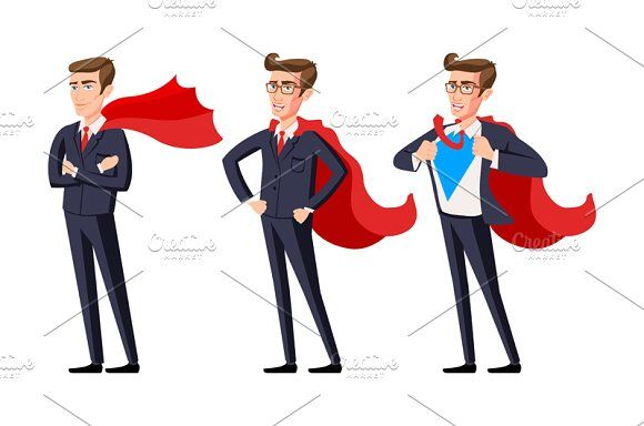 vector  business super men  by Rommeo79 on @creativemarket