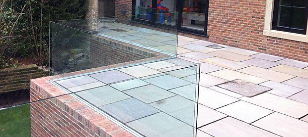 frameless bonded glass balustrade