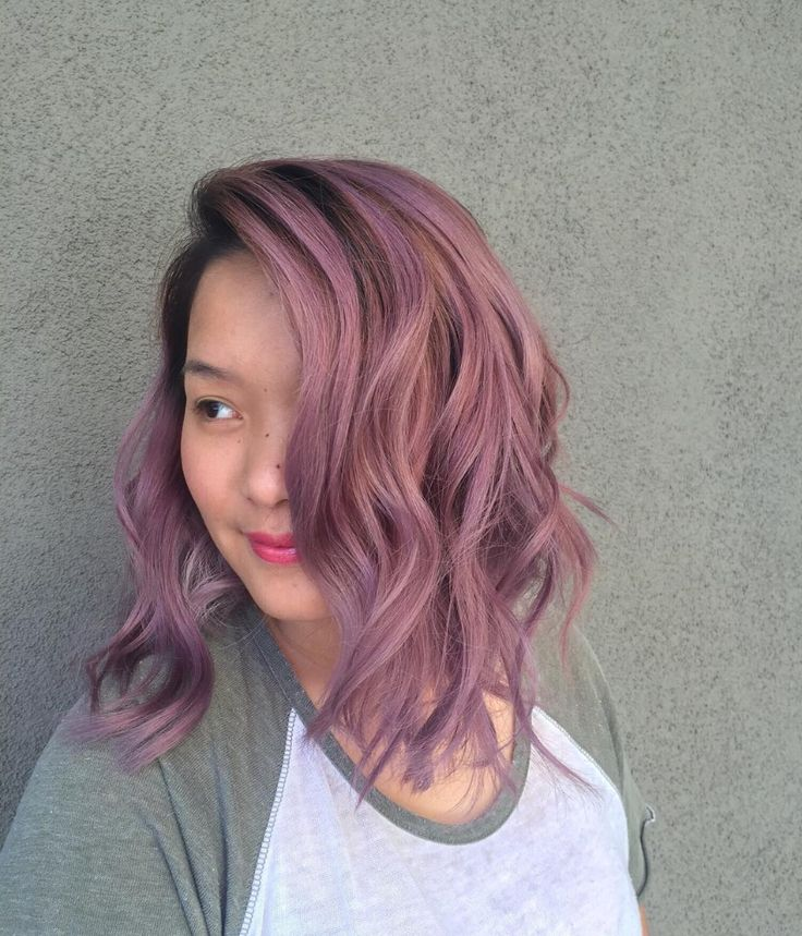 Pretty lavender purple Aveda hair color from Lux Salon creative director Wendy. Aveda hair color formula in comments.