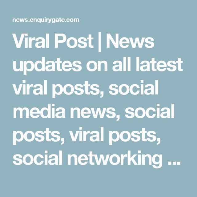 Viral Post | News updates on all latest viral posts, social media news, social posts, viral posts, social networking posts, Online News update website, online paper, news website online, the news newspaper today, news headlines this week, new news paper online