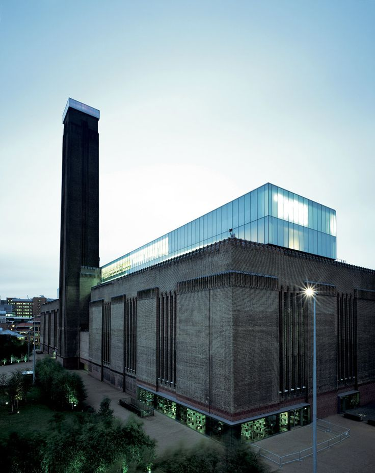 Tate Modern, Londres Renovated by the architect:  Herzog & de Meuron.