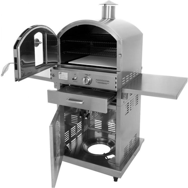 Pacific Living Outdoor Gas Pizza Oven On Cart PL8430SSBG070 - Patio & Pizza - 1