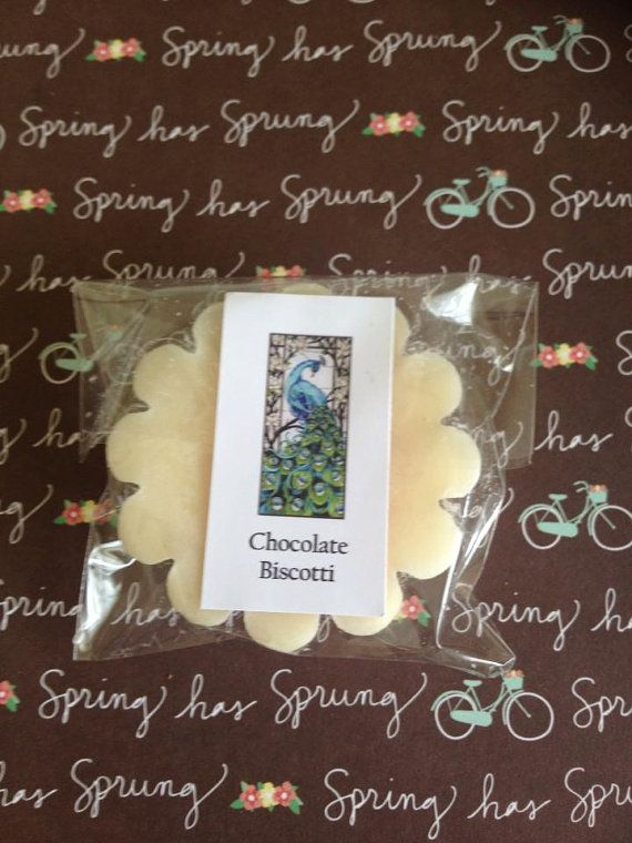 Chocolate Biscotti Scented Soy Wax Tart Melt by WillowandPeacock, $2.50