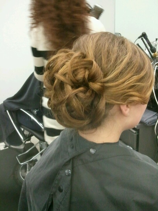 Homecoming updo I did