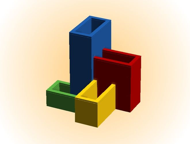 Pencil Holder Lego, not only to assemble and expose, but to use every day! It consists of 4 containers of different heights thatcan be assembled in various ways. They can hol...