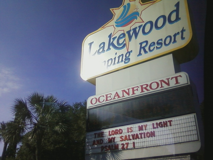 Myrtle Beach, South Carolina. Lakewood Campground <3