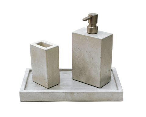 the concrete bathroom soap dispenser toothbrush holder decorative soul