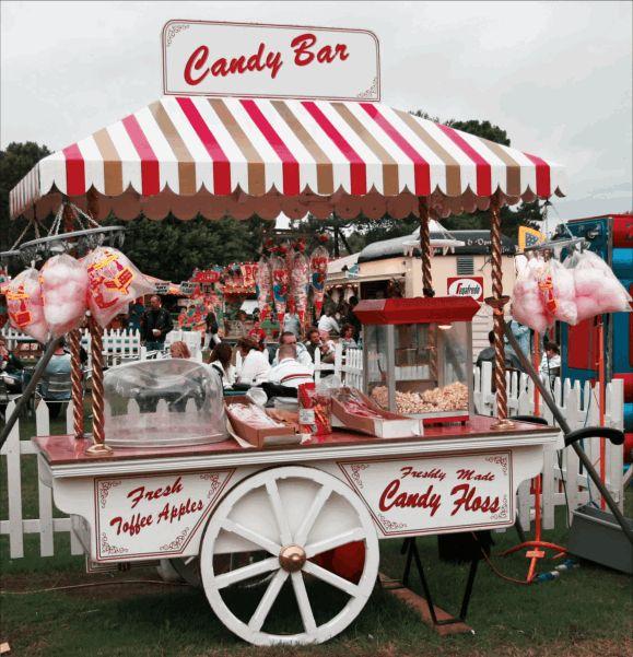 Candy Bars   Récréer un véritable stand à bonbon de fête foraine (pommes d ...