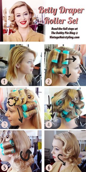 Betty Draper Vintage Hairstyle Directions/ You want to look retro, you want to be pretty, and if you're classy you give a like, before you pin it!