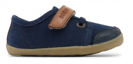 Bobux Step Up Leisure Navy Blue Canvas Shoes