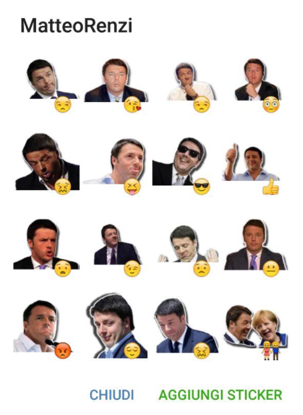 Italian's Prime minister matteo Renzi in this sticker pack. #telegramstickers