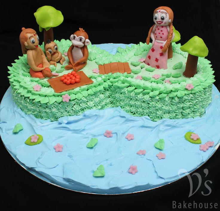 Cake Images Of Chota Bheem : Choco truffle cake with chota bheem and team fondant ...