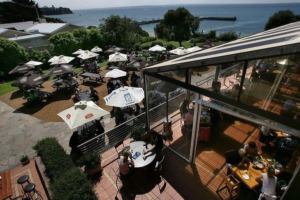Brews with a view: Beer garden at the Portsea Hotel on the Mornington Peninsula, Victoria.  From Good Food's Summer Bucket List.