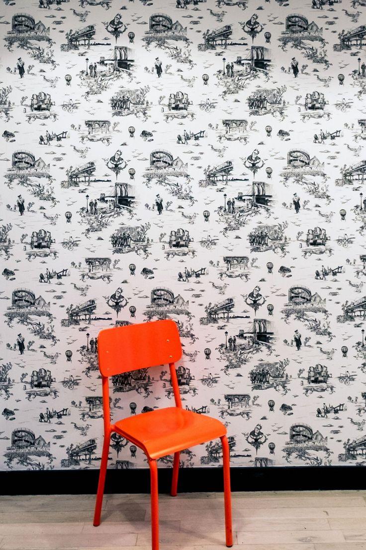 Brooklyn Toile · Flavor Paper Flavor paper wallpaper