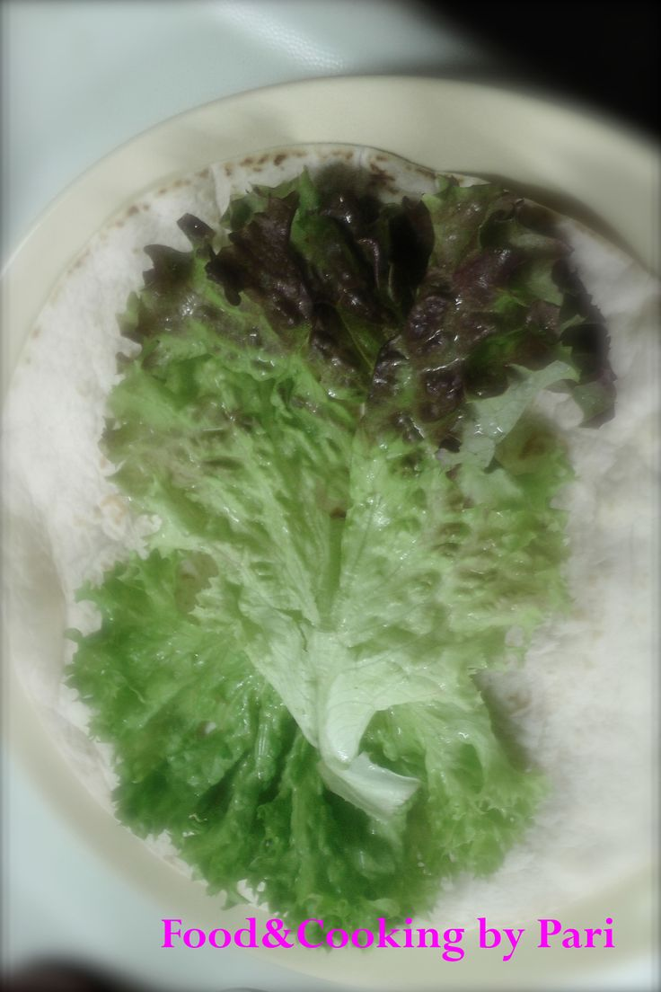 Lollo Rosso or Lettuce, wash it well.