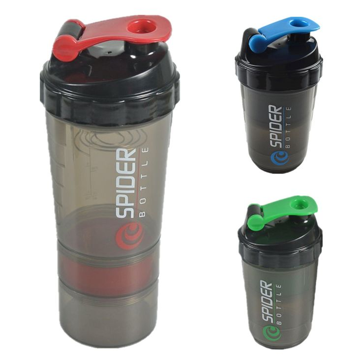 Whey Protein suplementos proteina shaker 3 in 1 bottle with inserted mixing ball 3 Colors 1 piece options 600ml Free Shipping