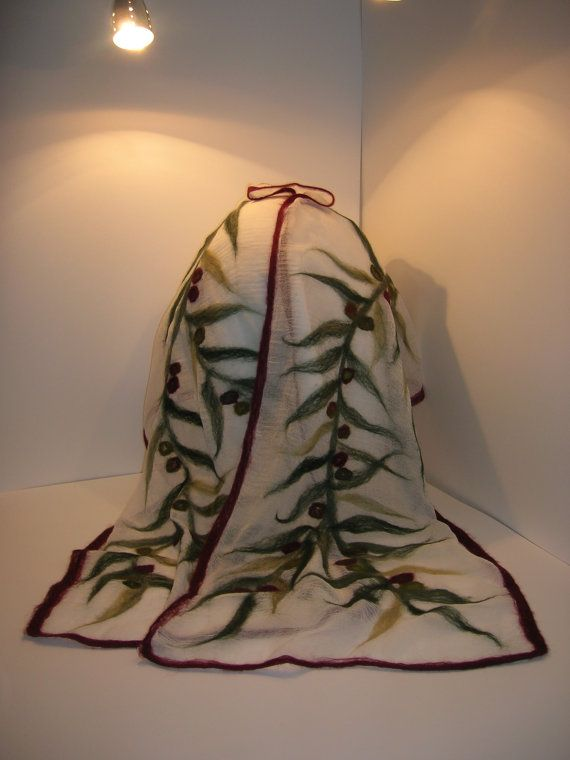 Nuno feltro fantasia albero di ulivo scialle di inFELTrazioni