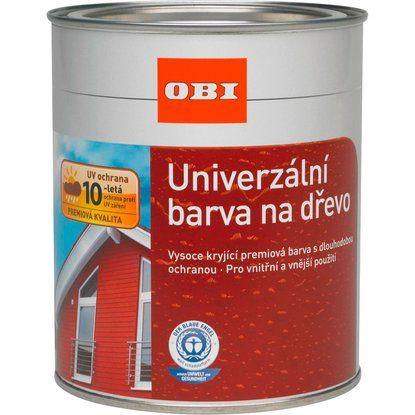OBI Univerzálna farba na drevo striebristo šedá 750 ml
