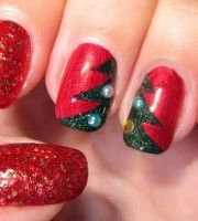 Top 10 Outstanding Christmas Nail Art Pictures
