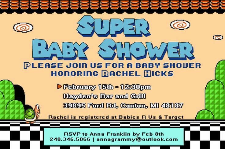 At the Water's Edge: Super Mario Baby Shower, Plus DIY Onesies and Mobile