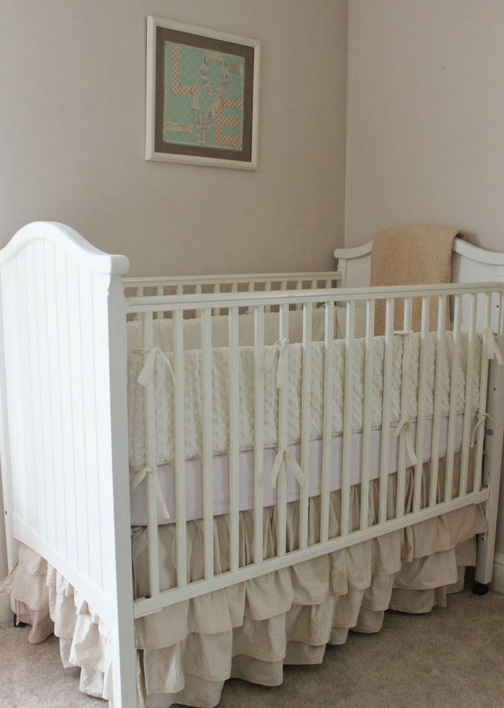 Ugh! Too cute! Namely Original: DIY Ruffled Crib Skirt And Wall Art
