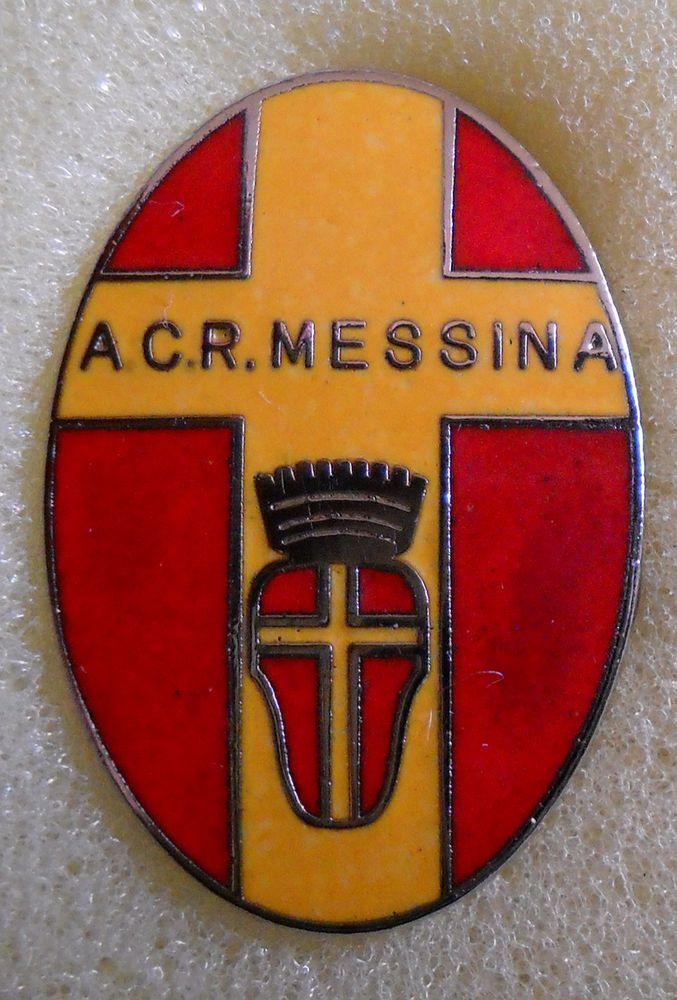 BELLISSIMO DISTINTIVO SPILLA PIN BADGE A.C.R. MESSINA CALCIO