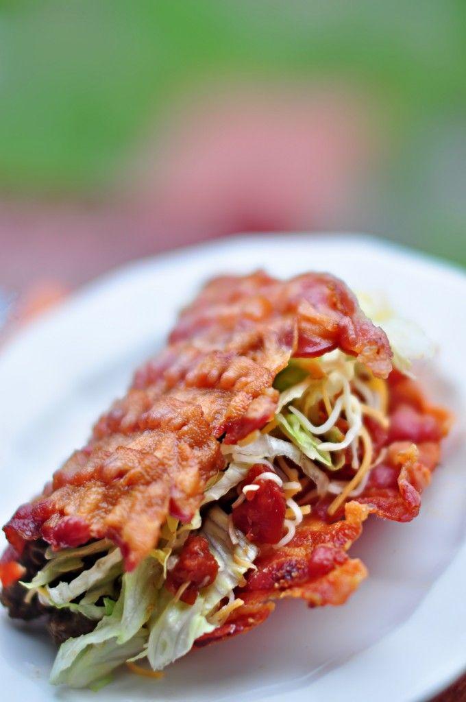 Bacon bacon bacon, need we say more? #bacontacoshell