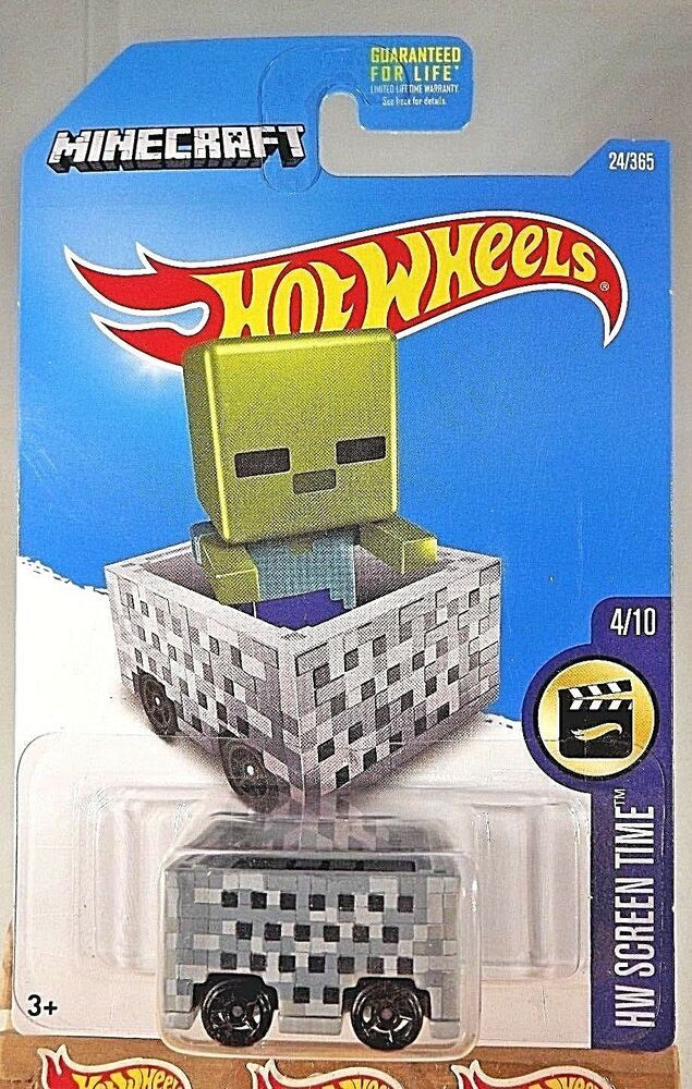 2017 Hot Wheels #24 MINECRAFT HW Screen Time 4/10 MINECART