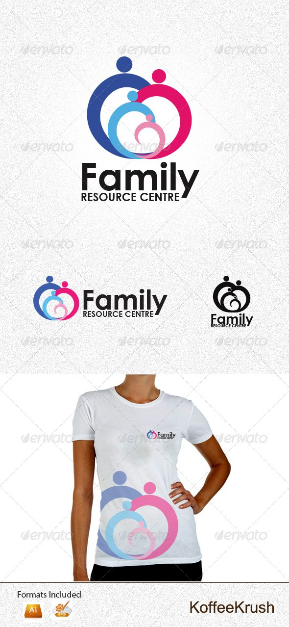 Family Resource Centre Logo An excellent logo in vector format which is ideal for any activity which uses human interaction. Social networking, various community groups, clubs, family.  Get this logo http://graphicriver.net/item/family-resource-centre-logo/3853679?WT.ac=search_item_1=search_item_author=koffeekrush