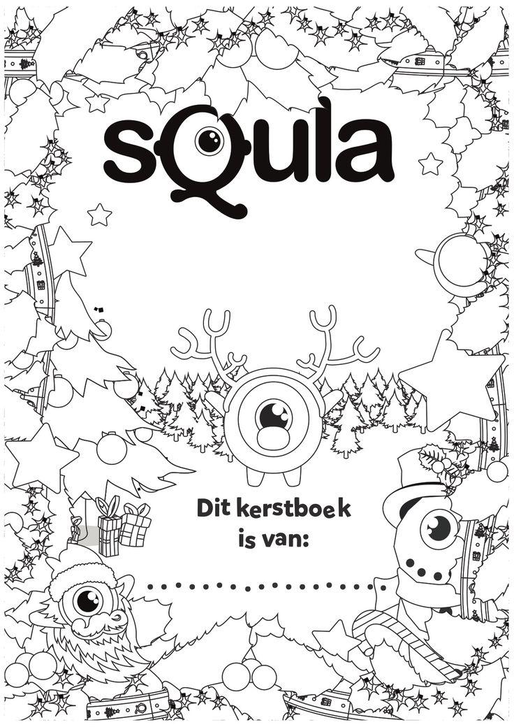 Achterkant van het Squla Kerstvakantieboek