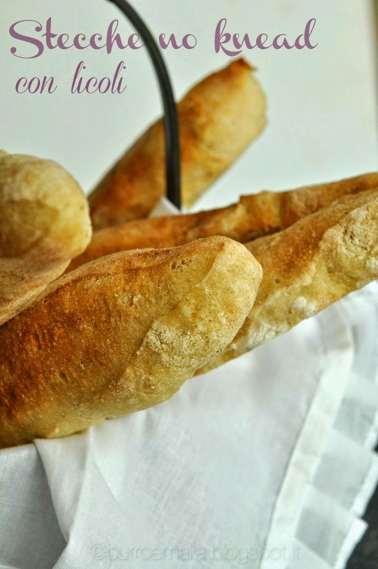 Burro e Malla: Stecche no knead con licoli