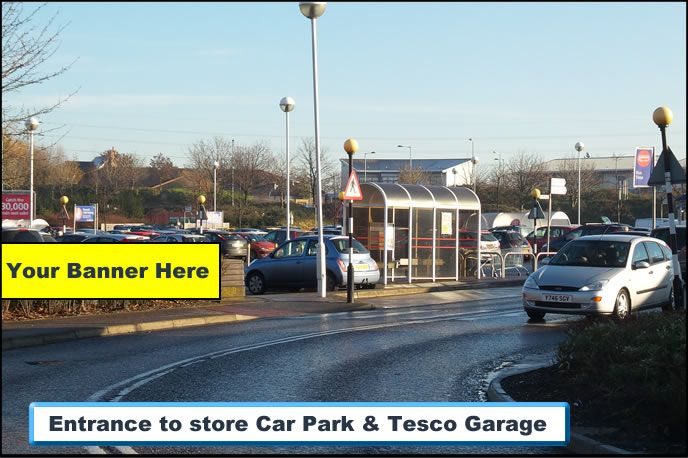 Create a powerful local presence by advertising your company to every shopper at Tesco Stowmarket.