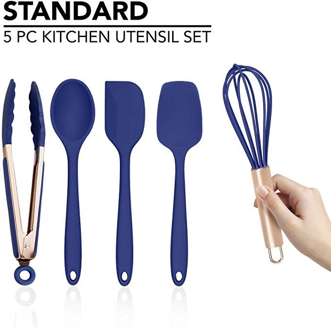 Cook With Color Silicone Cooking Utensils 5 Pc Kitchen Utensil