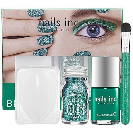 NEW nails inc. Bling It On Emerald Kit