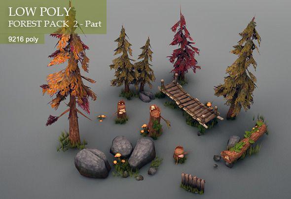 low poly pine tree - Google Search