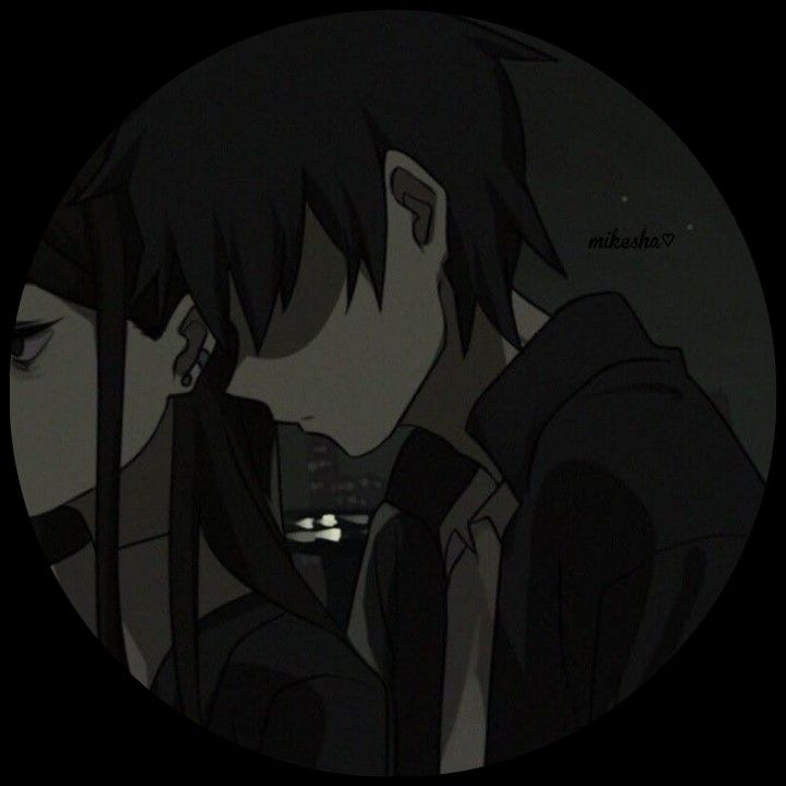 Couple Matching Profile Pictures Anime Icons Dark Anime Iphone dark anime couple wallpaper