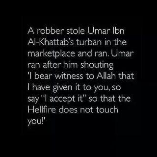 Ma Sha Allah.. What can one say... Khalifah Umar Ibn Al-Khattab