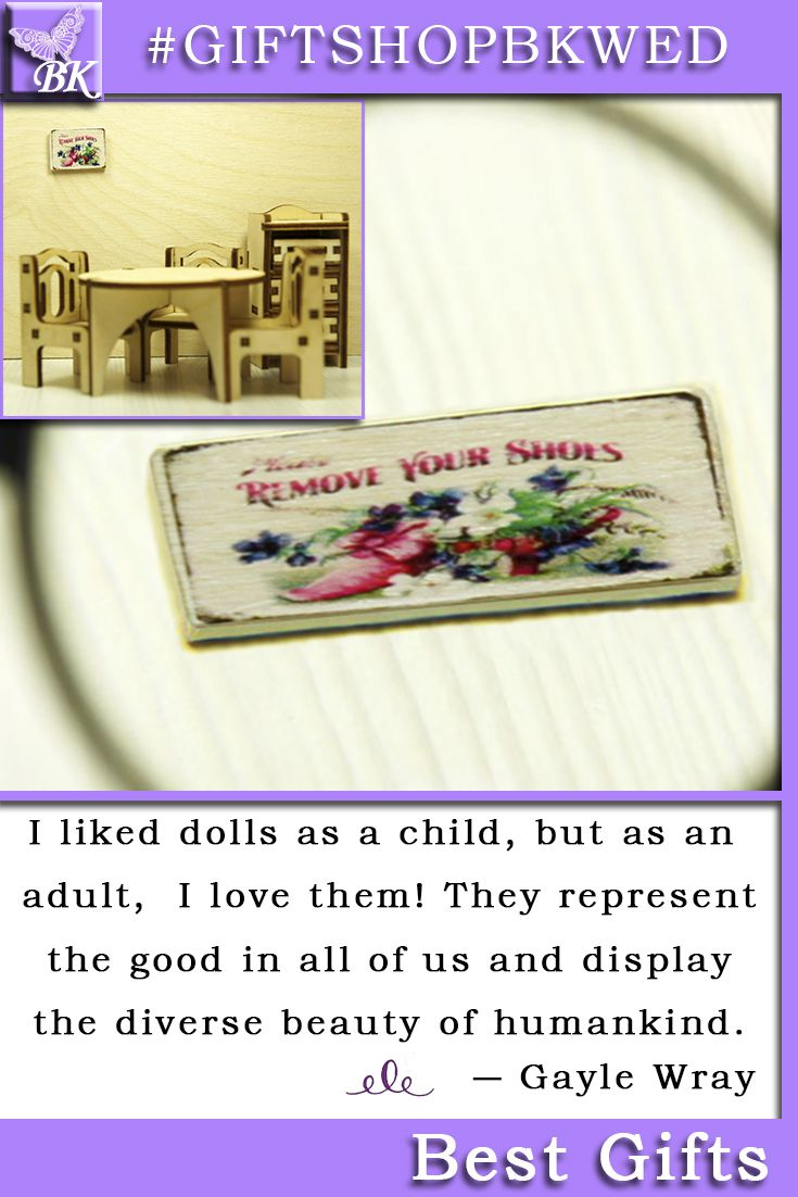 """French Style. Size 1:12. """"REMOVE YOUR SHOES"""" for Dollhouse Our wooden signs for the doll house are ideal for interior and will look great in your collection! #giftshopbkwed #dollhouse #accessory #gift #wood #wooden #print #accessories"""