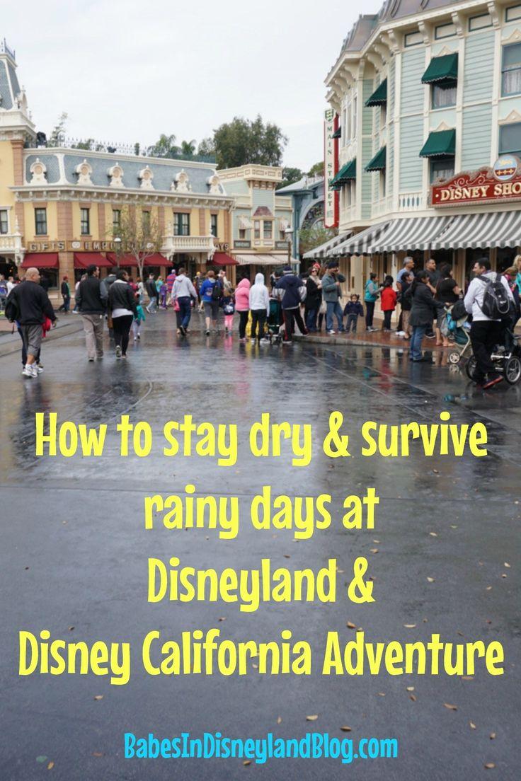 Überleben und trocken bleiben an regnerischen Tagen in Disneyland und Disney California …