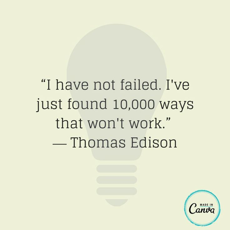 Every failure is a new lesson.