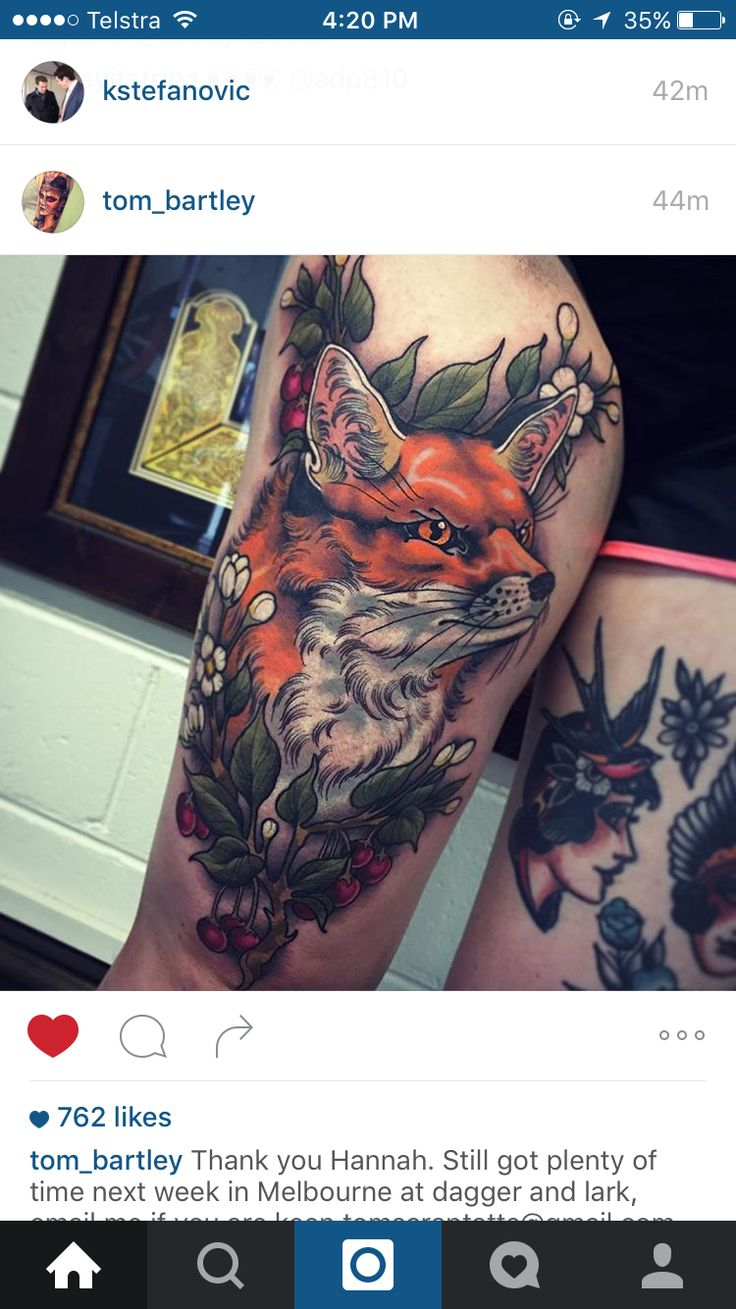 If you decide to get a tattoo look at the image of a fox this animal - Fox Tattoo