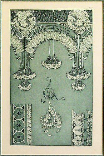 Art Nouveau illustration by Alphonse Mucha
