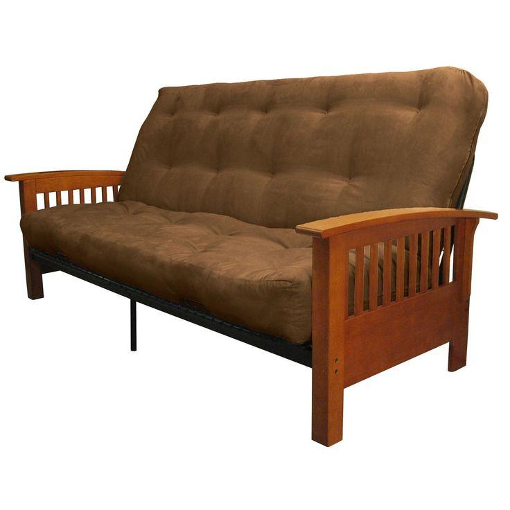 EpicFurnishings Brendan Mission-style Queen-size Inner Spring Futon Mattress Set Sleeper Bed