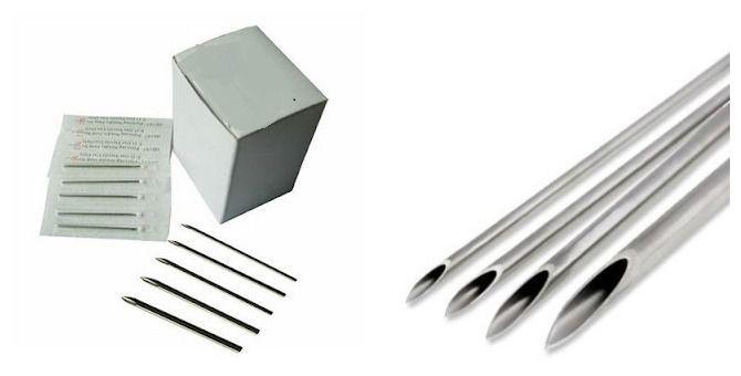 Body Piercing Needles (20G, 18G, 16G)100 PC. Sterilized   #Unbranded