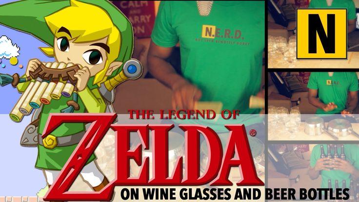 The Legend of Zelda Theme Song on Wine Glasses, Pots and Beer Bottles