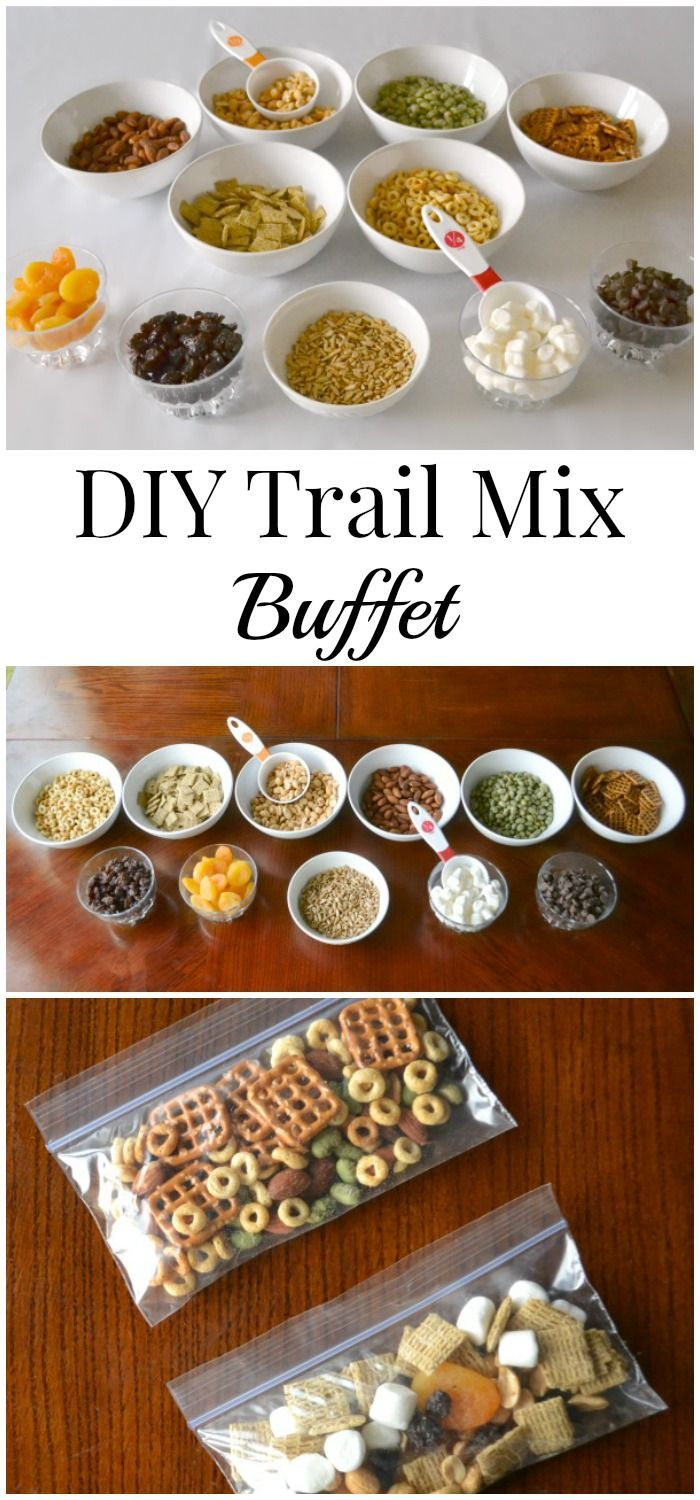 A trail mix buffet is a great way to empower kids to make healthy snacking choices.