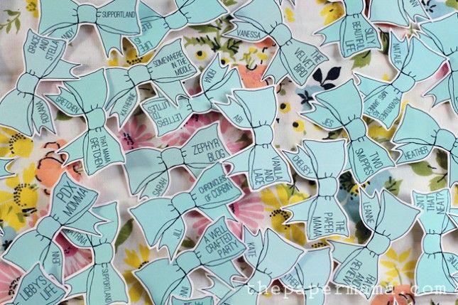 What's My Name Again? 13 Creative Name Tags via Brit + Co.... bows!