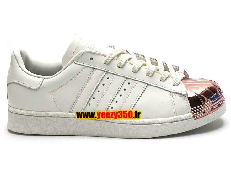Adidas Originals Superstar Chaussures Adidas Pas Cher Pour Homme/Femme beige/argent