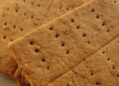 Healthy Homemade Graham Crackers - butter, honey, egg, water, sea salt, baking soda, whole wheat flour