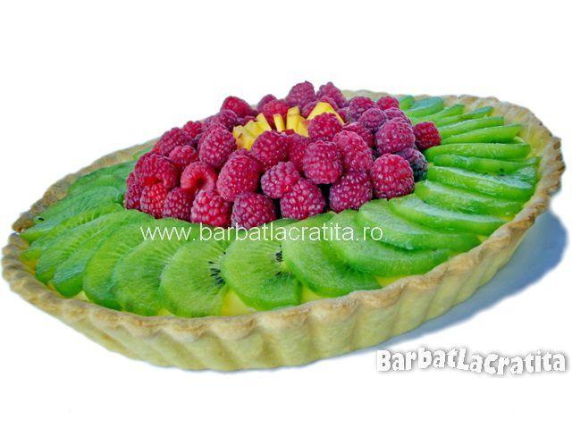 Tarta cu fructe si budinca de vanilie